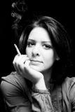 портрет девушки сигары Стоковое Фото