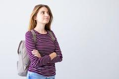 Портрет девушки студента дальше Стоковое фото RF