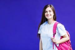 Портрет девушки студента Стоковая Фотография RF