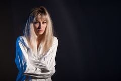 портрет девушки сумашедший Стоковые Фото