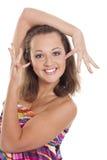 портрет девушки счастливый Стоковая Фотография RF