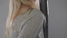 Портрет девушки с летучей мышью сток-видео