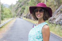 Портрет девушки с солнечными очками Стоковая Фотография RF