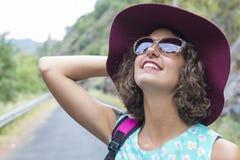 Портрет девушки с солнечными очками Стоковое фото RF