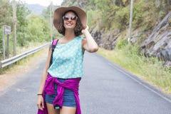 Портрет девушки с солнечными очками Стоковые Изображения RF