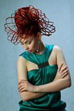 Портрет девушки с шикарными модельными волосами Стоковые Фото