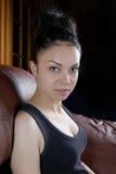 Портрет девушки с coiffure Стоковые Изображения RF