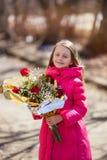 портрет девушки цветков Стоковая Фотография