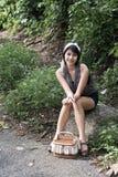 портрет девушки asain Стоковое Изображение RF
