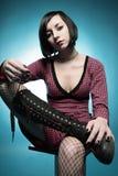 портрет девушки emo Стоковые Изображения RF