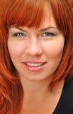 портрет девушки redheaded Стоковое Изображение RF