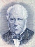 Портрет Джна Sigurdsson от исландских денег Стоковые Изображения