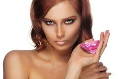 портрет диаманта красотки большой Стоковое Изображение RF