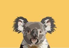 Портрет дизайна искусства вектора медведя коалы иллюстрация вектора