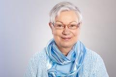 Портрет добросердечной пожилой женщины Стоковое фото RF