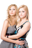 портрет довольно 2 женщины молодой Стоковые Изображения RF