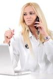Портрет доктора делая ее работу Стоковые Изображения