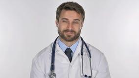 Портрет доктора Shaking Головы, который нужно принять, да видеоматериал