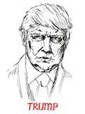 Портрет Дональд Трамп президент Америки иллюстрация вектора
