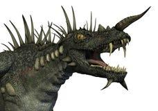 портрет дракона spiky Стоковая Фотография RF