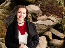 Портрет девочка-подростка в природе Стоковое Фото