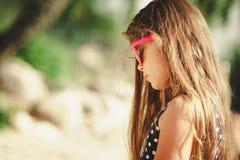 Портрет девушки внешний в временени Стоковое Фото