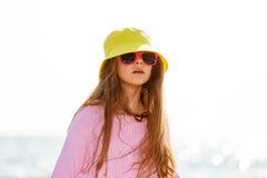 Портрет девушки внешний в временени Стоковые Фото