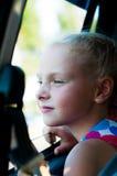 Портрет девушки в автомобиле Стоковое Изображение