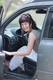 Портрет девушки в автомобиле Стоковые Фото