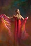 Портрет девушки в красном цвете Стоковое Фото