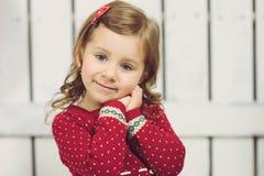 Портрет девушки в красном цвете Стоковая Фотография RF