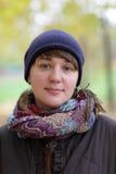 Портрет девушки в осени Стоковое Изображение RF