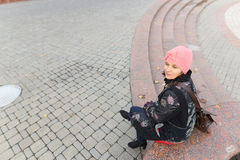 Портрет девушки в парке осени Стоковое Фото