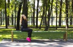 Портрет девушки в парке Стоковые Изображения