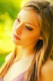 Портрет девушки в природе Стоковое фото RF