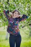 Портрет девушки в саде Стоковые Изображения