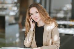 Портрет девушки дела Стоковые Фото