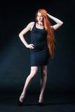 Портрет девушки имбиря красоты Здоровые длинние красные волосы Красивое yo Стоковые Изображения