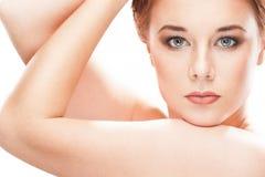 Портрет девушки красотки модельный красивейшая женщина стороны стоковые фотографии rf