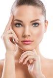 Портрет девушки красотки модельный стоковое фото rf