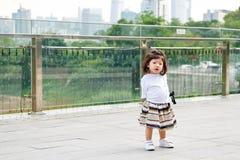 Портрет девушки малыша внешний в Китае Стоковые Изображения