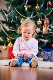 Портрет девушки малыша рождества Стоковое Изображение RF