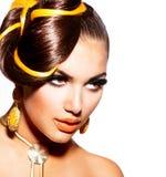 Портрет девушки модели FFashion Стоковые Фотографии RF