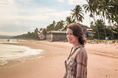 портрет девушки на море Стоковое Изображение RF
