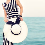 портрет девушки на празднике пляжа Стоковая Фотография RF