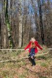 Портрет девушки на прогулке Стоковое Изображение RF