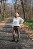 Портрет девушки на прогулке Стоковое фото RF