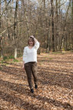 Портрет девушки на прогулке Стоковая Фотография
