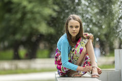 портрет девушки немного outdoors Идти Стоковые Фотографии RF