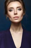 Портрет девушки очарования моды красоты Стоковые Фото